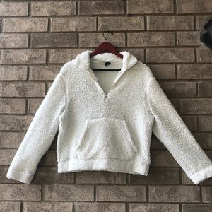 Sherpa white quarter zip